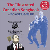 Aislin book cover, 'The Illustrated Canadian Songbook'.