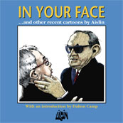 Aislin book cover, 'In Your Face'.