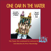 Aislin book cover, 'One Oar in the Water'.