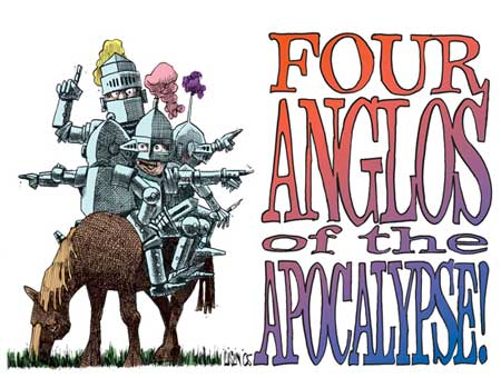 Political cartoonist Terry Mosher stars in Four Anglos of the Apocalypse